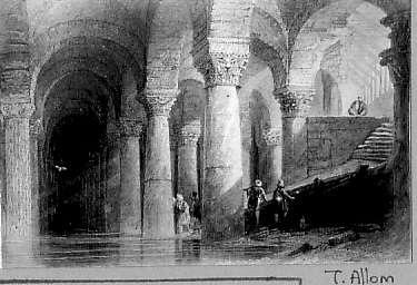 Resim 2 Th.Allomu n Yerebatan Sarayını Gösteren gravürü