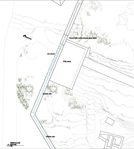 1.Dönem, Kale sur duvarları ve giriş üzeri gözetleme alanı (şekil 7)