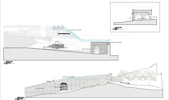 1.Dönem, Kale sur duvarları ve giriş üzeri gözetleme alanı (şekil 8)