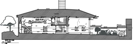 II-II Kesiti Ana mekan, son cemaat mahalli, avlu (şekil 4)
