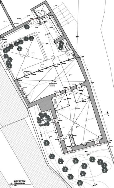 II.Beyazid  Cami Planı                                                 Murad Bey Cami Planı