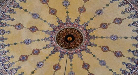 Molla Çelebi Camii ana kubbe kalem işi