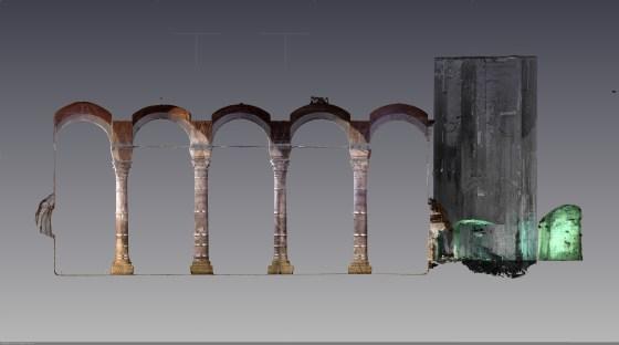 Sarnıca yakın dönemde eklenen betonarme odanın olduğu bölüm