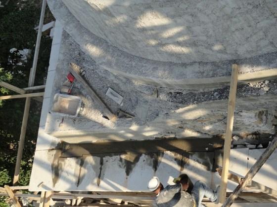 Beden duvarı üst kısım silme taş montajı (fotoğraf 12)