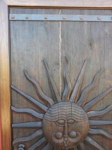 Cool sunburst carved door