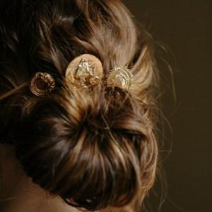coin bridal hair pins