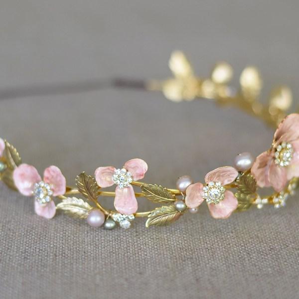 rose bridal tiara crown