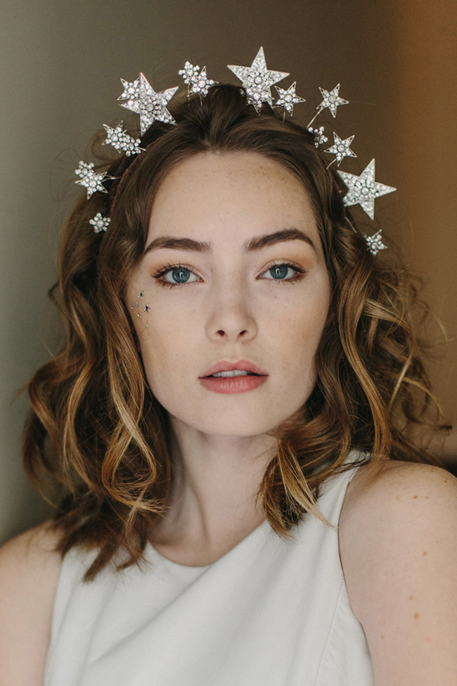 Cosmic Beauty star wedding crown