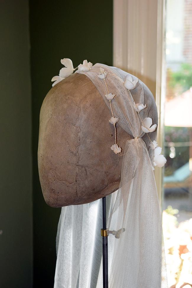 Juliette bridal cap