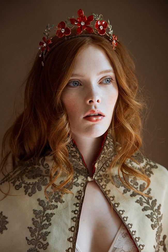 Regina red enamel tiara