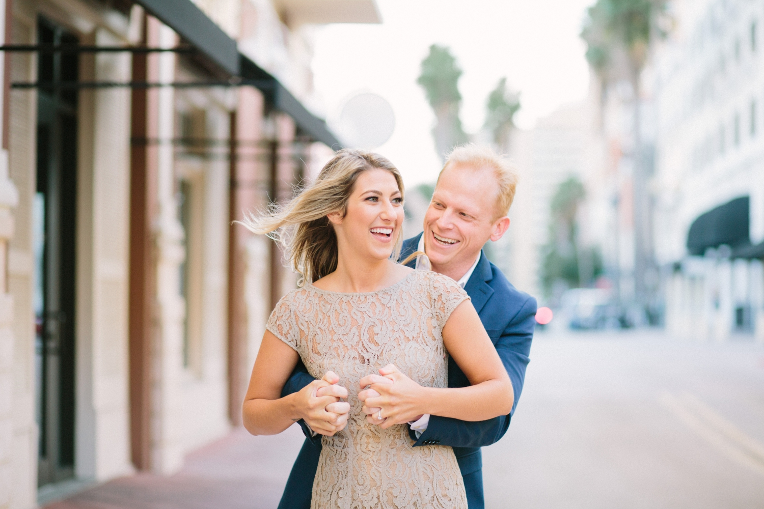 downtown palm beach engagement photos