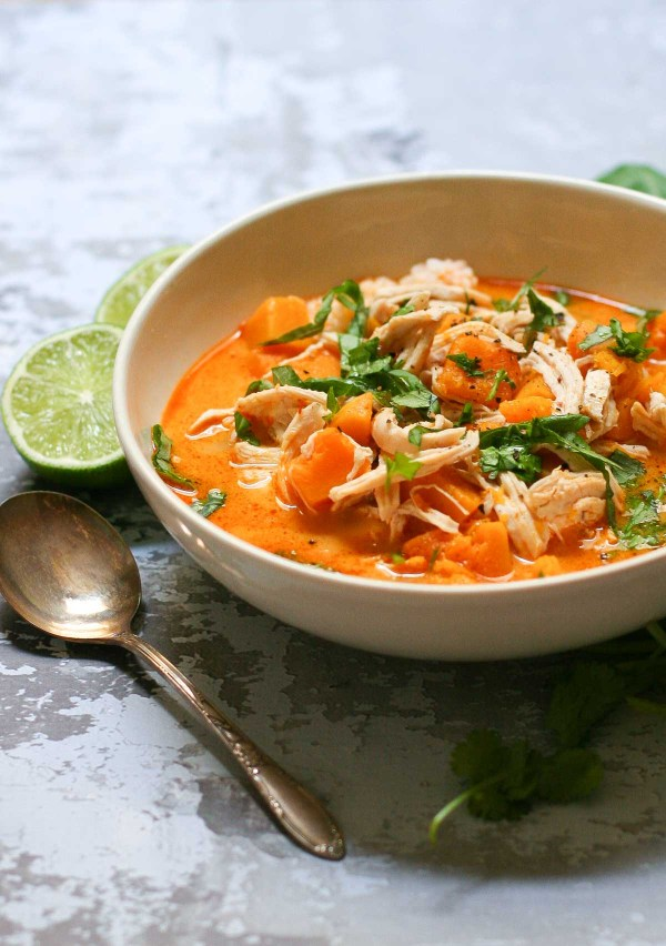 Thai Red Curry with Butternut Squash and Chicken   www.ericajulson.com