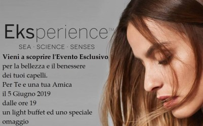5 Giugno 2019 – Evento ESCLUSIVO: Il benessere dei tuoi capelli!