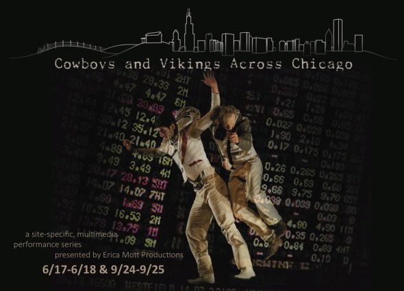 cowboys and vikings across chicago postcard front