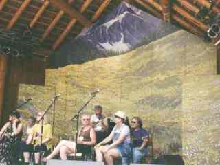 Canmore Folk Festival Stage Backdrop