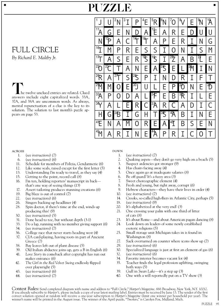 Tacky Harper's Cryptic Clues: June 2014
