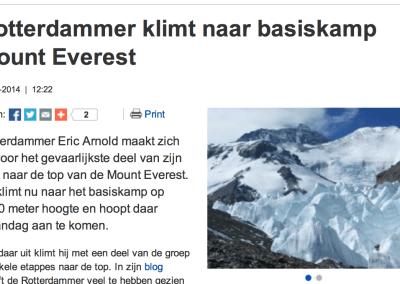 Rotterdammer klimt naar basiskamp Mount Everest