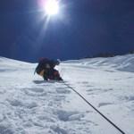 Kort onder C3 in de Lhotsewand