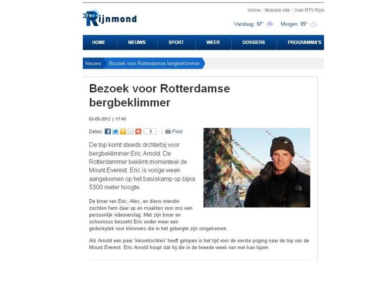 Bezoek voor Rotterdamse bergbeklimmer