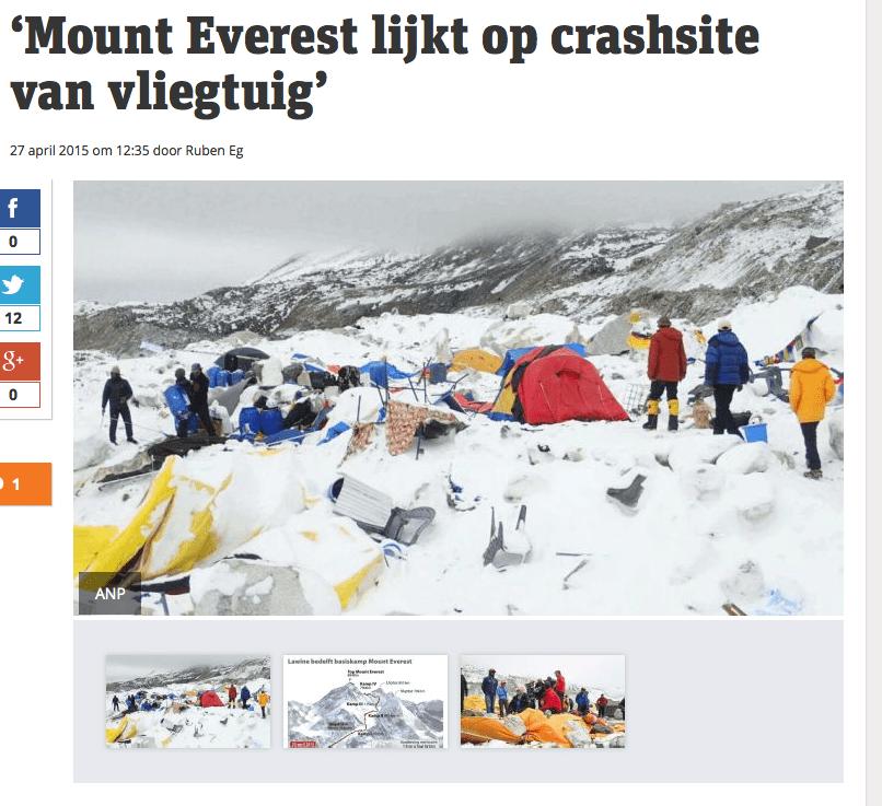 Metro – 'Mount Everest lijkt op crashsite van vliegtuig'