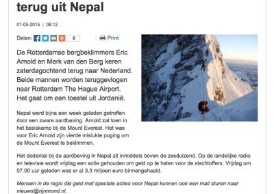Rotterdamse bergbeklimmers komen terug uit Nepal