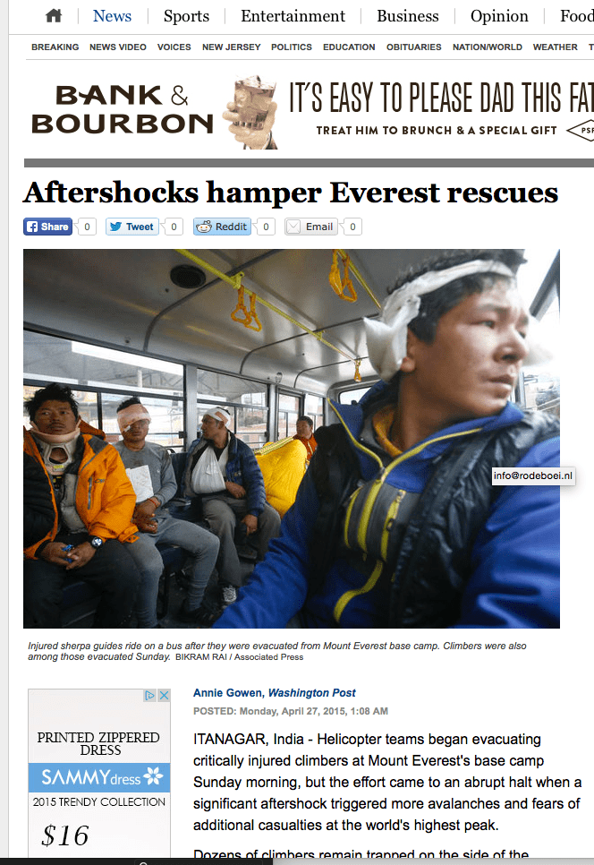 Aftershocks hamper Everest rescues