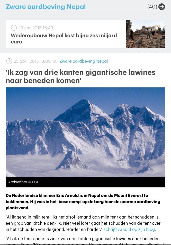 RTL Nieuws – 'Ik zag van drie kanten gigantische lawines naar beneden komen'