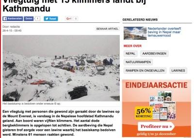 AD – Vliegtuig met 15 klimmers landt bij Kathmandu
