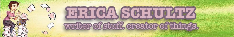 Erica Schultz Writes Stuff – site banner