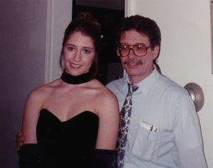 Dad with me just before prom. May 1995.