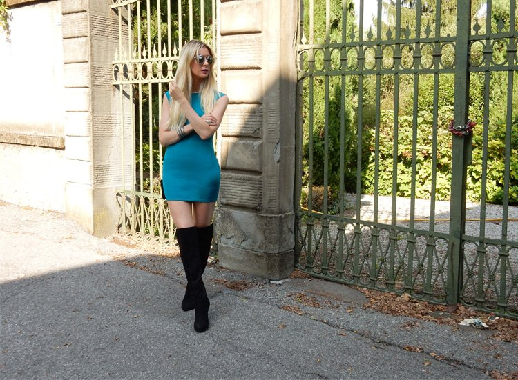 How to Wear Over-the-Knee Boots In Fall on a budget