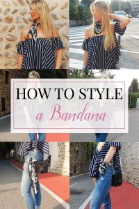 Bandanas are the ultimate must-have. Certain trends have become more popular over time. For this reason I created a post where I show you how to style it.
