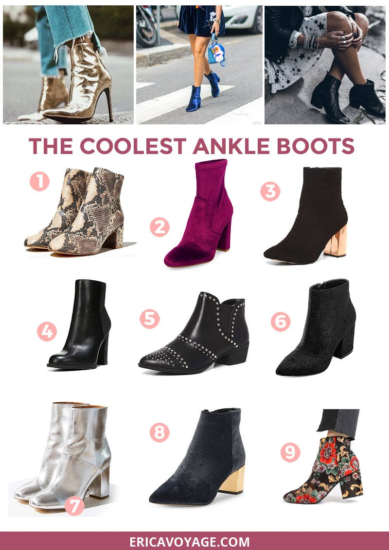 A must have that every girl need right now are the ankle boots! Whether you're into velvet, leather or metallic one of these pairs will match your style.