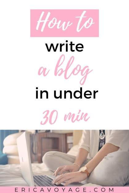 Are you worried you don't have enough time? You don't need to spend hours, there are so many ways to start writing your blogs in under 30 min.