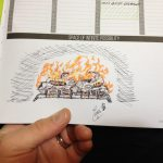 Passion Planner 2016 Fireplace for Your Home Sketch