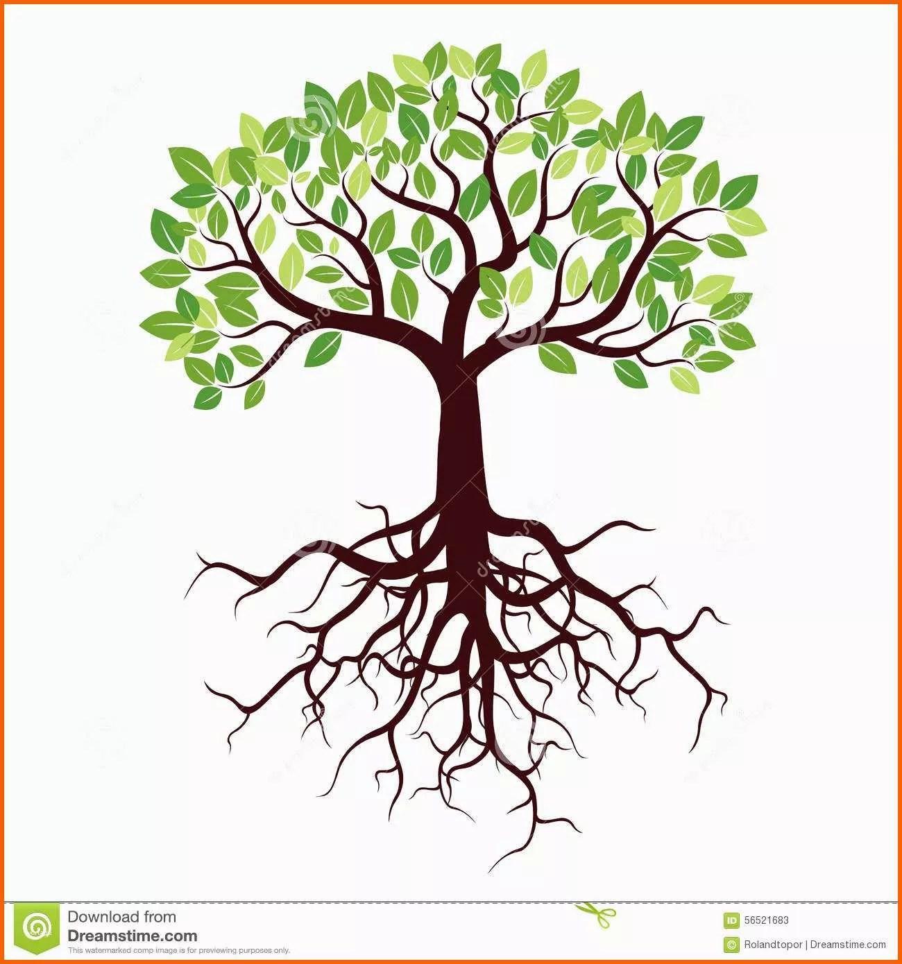 Erschwinglich Malvorlage Baum Mit Blättern Neu Großer Und