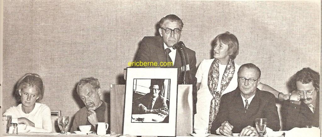 ITAA August 1970 Conference commemorating the life of Eric Berne. Has Ellen Berne, David Kupfer, Claude Steiner