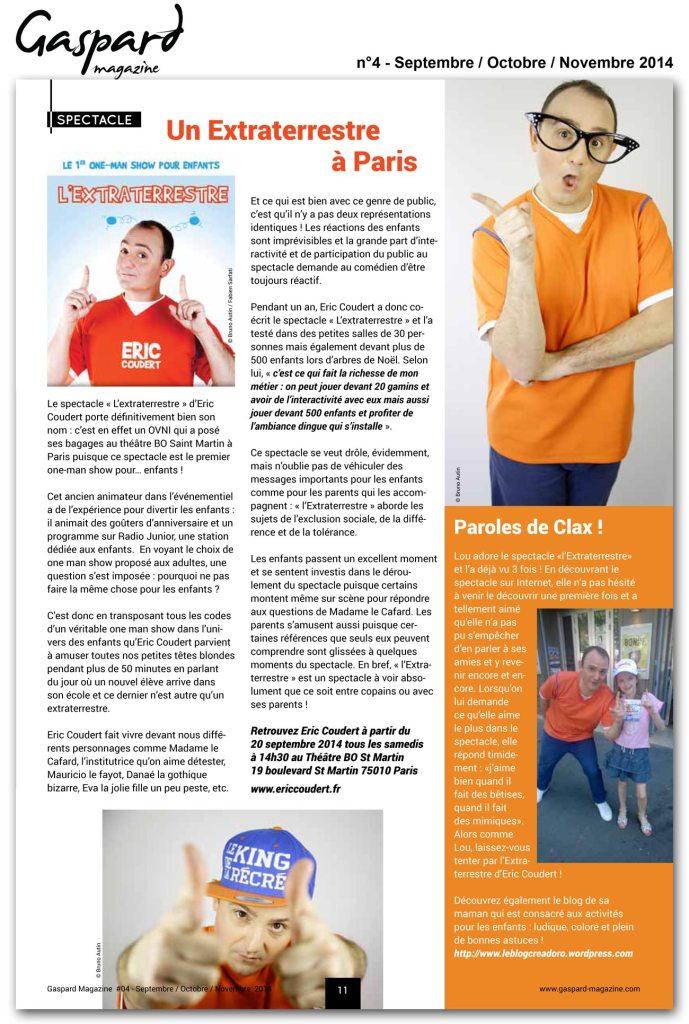Gaspard Magazine parle de nous !