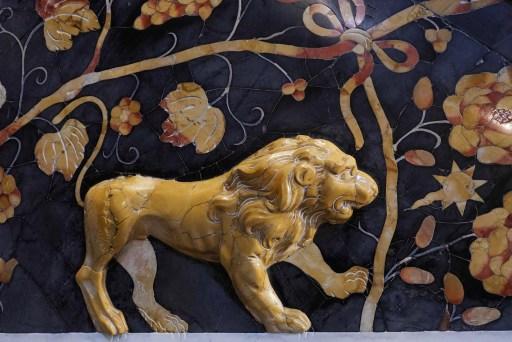 Decoratie in de Chiesa di Santa Catarina, Palermo
