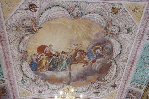 Plafondschildering in Palazzo Nicolci - Noto, Sicilië