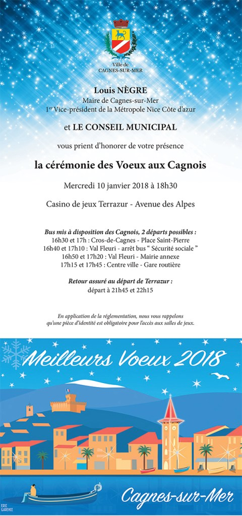 Cagnes sur mer Voeux 2018 Eric Garence
