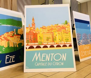 Menton Art Garence Eric Artiste Affiche Poster Exposition exhibition France Cote d'azur French Riviera Poster