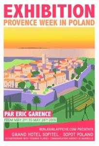 Exhibition Exposition Affiche Provence saint paul de vence Poster Eric Garence Vintage Galerie