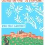 Garence Eric Expo Cagnes Renoir Jardins Oliviers Cote d'azur Poster Dessin minimaliste Nice Saint Tropez
