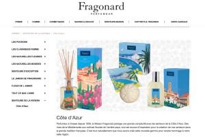 Fragonard Eric Garence Cote d'azur French Riviera Collection Parfum Cadeau Eau