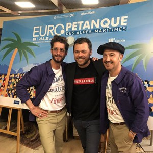 Europétanque, Nice Matin, Affiche Eric Garence 18eme édition Conseil Départemental Alpes Maritimes Pastorino Ciotti Ginesy Nardelli Boulisterie