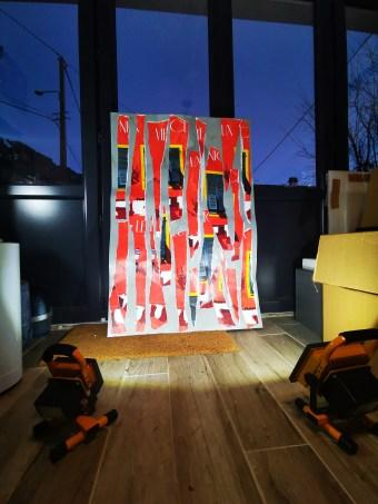 Eric Garence Phoenix Art Contemporain Nice Artist Tableau Affiche déchirée MAMAC Happening13