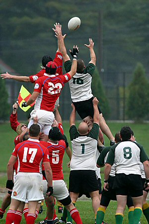 Portland Rugby Club vs Springfield, lineout