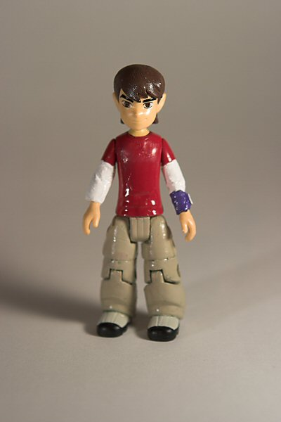 My Son as an action figure, custom Ben 10 repaint