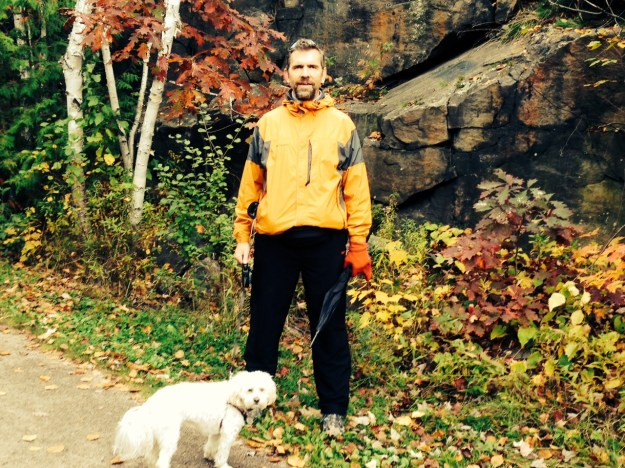 On a fall walk in Parry Sound, Ontario
